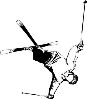 Acrobat skier