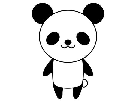 팬더 동물 서 포즈