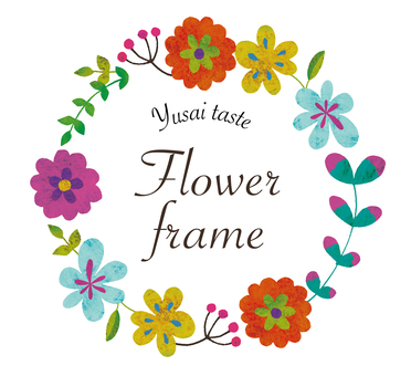 Oil painting flower frame