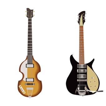 ベースとエレキギター
