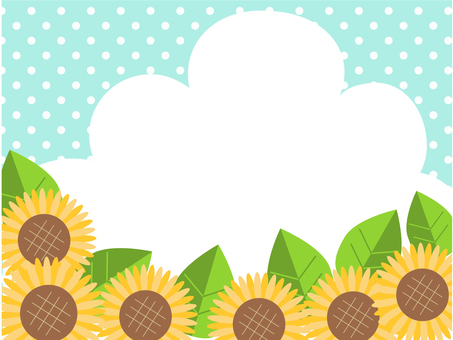 Sunflowers - clouds