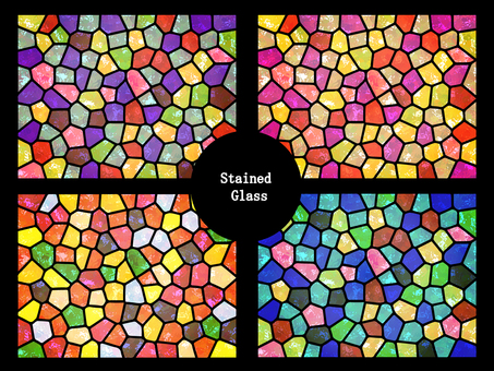 Stained glass background (window)