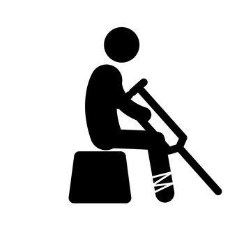 픽토그램 (앉아 부상자)