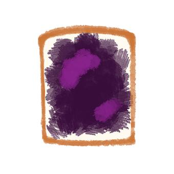 Bread blueberry jam
