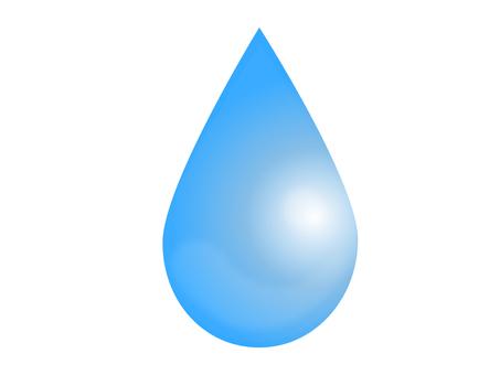 눈물 모양의 물방울