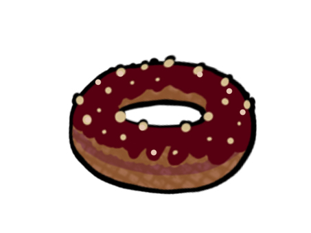 甜甜圈巧克力