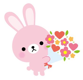 토끼 꽃다발