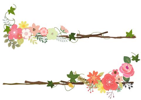 Cute flower title line