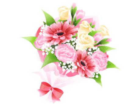 Hand-drawn wind bouquet