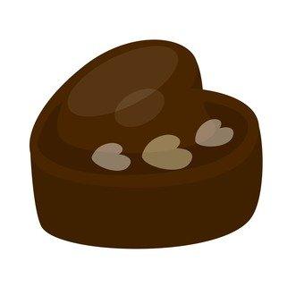 心臟形的巧克力