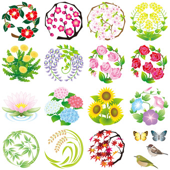 Flower crest set