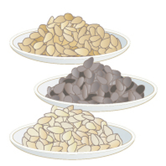 Sesame display Recommended raw material 20 items