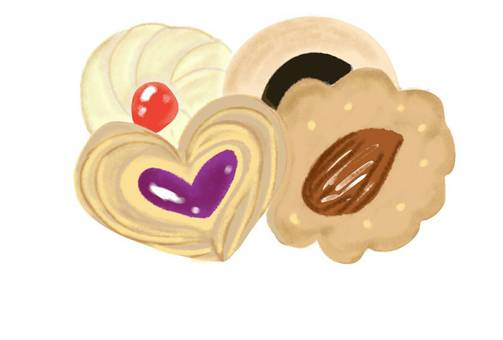 Cookies sweets baked goods heart