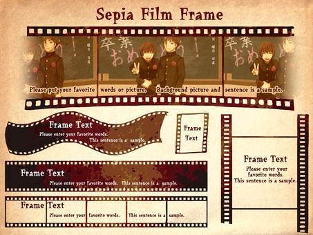Sepia style film frame
