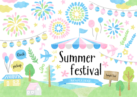 Seasonal material 088 Summer Festival