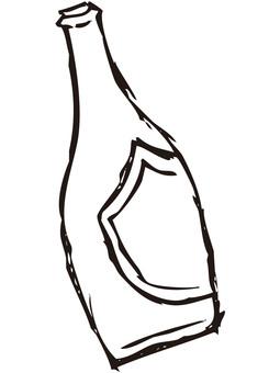 Wine bottle 1 (line drawing)