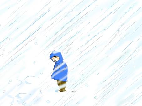 A snow storm.
