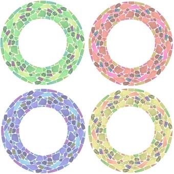Mosaic tile circle