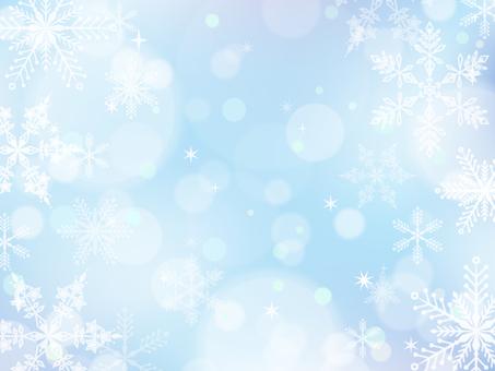 雪+キラキラ背景01