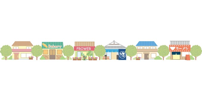 Townscape building illustration