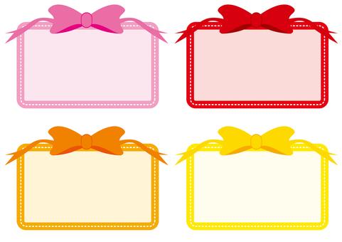 Frame - ribbon warm color
