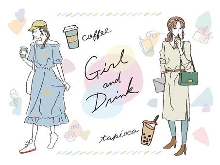 喝一杯的女孩