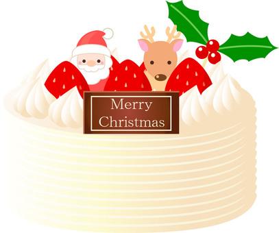 クリスマスケーキ(ホワイト)