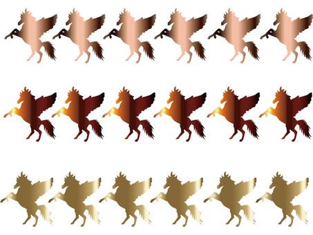 Pegasus silhouette line 4