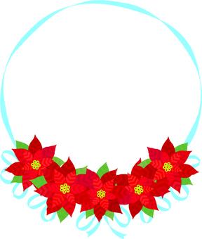 Poinsettia's Christmas Frame 2