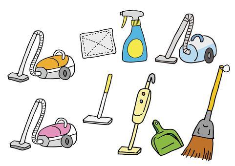 청소 도구 아이콘 세트