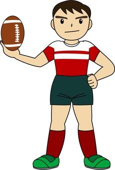 ラグビー選手03