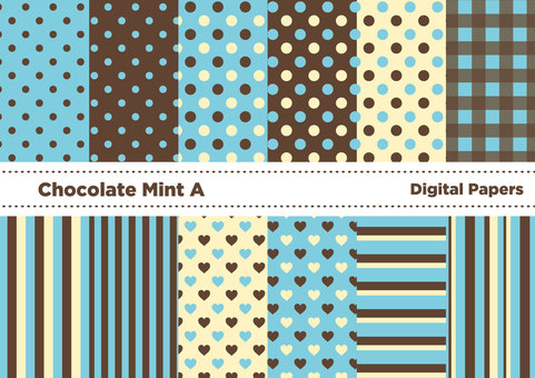 Chocolate mint color wallpaper A (blue)