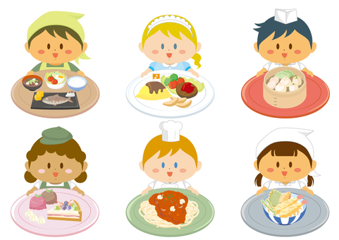 Children and menu set