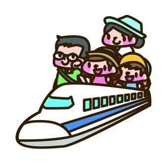 Family trip with Shinkansen