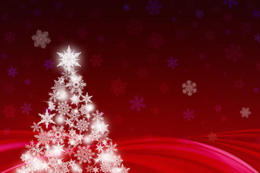 【Background】 Red Christmas tree 【Beautiful】