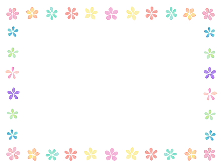 Water color flower frame B1