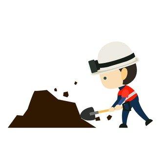 Mining with excavators