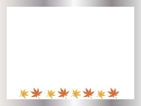 가을 단풍과 금 테두리