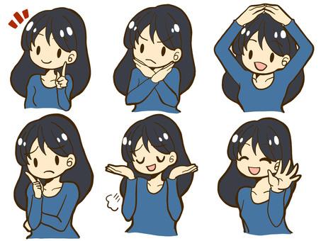 Girl face icon 02