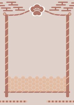 流行日式竹梅花