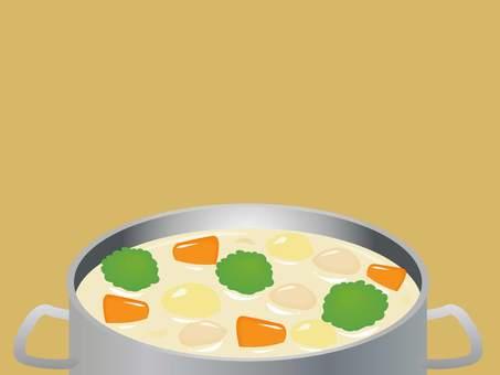 Stew frame in a pot
