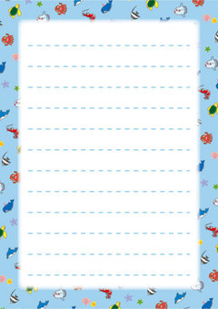 Cute sea creature notepaper 03