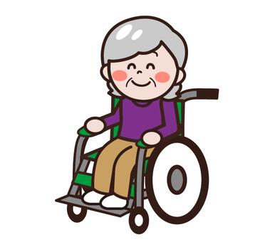 Elderly people in wheelchairs (women)