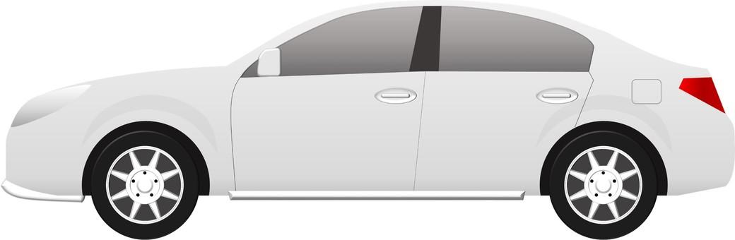 Car (sedan white)