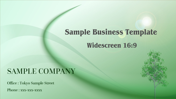 Business Template Wide 16: 9