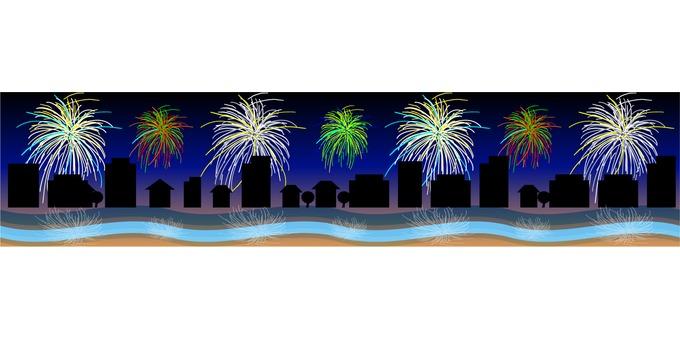Fireworks line 01