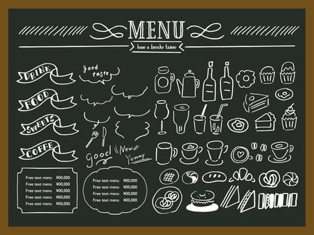 咖啡館標誌菜單