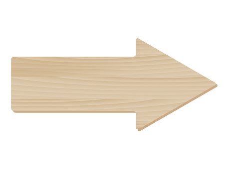 Wood grain horizontal arrow frame