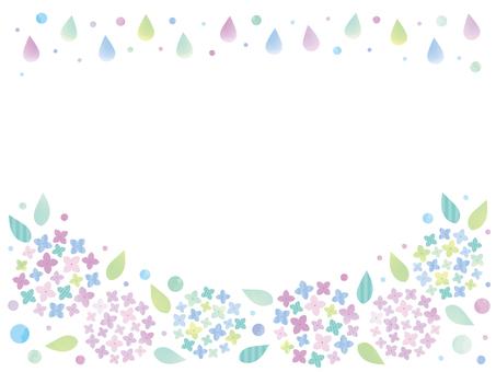 梅雨の紫陽花フレーム02