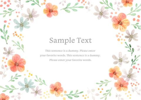 Girly material 054 flower frame